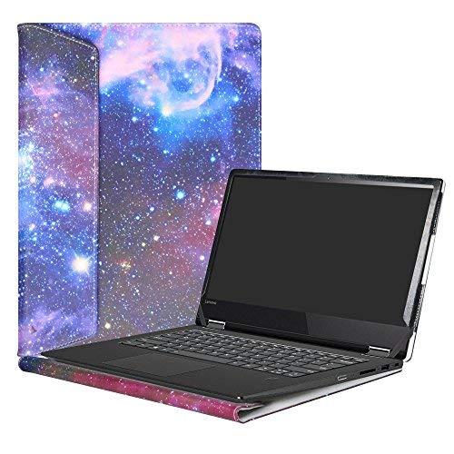 """Alapmk Specialmente Progettato PU Custodia Protettiva in Pelle Per 14\"""" Lenovo Yoga 530 530-14IKB/Yoga 520 520-14ISK 520-14IKB Series Notebook,Galaxy"""