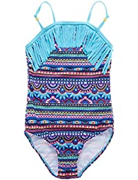 Attraco Mädchen Einteiler / Zweiteiler Badeanzug mit Regenbogen Mehrfarbig Streifen