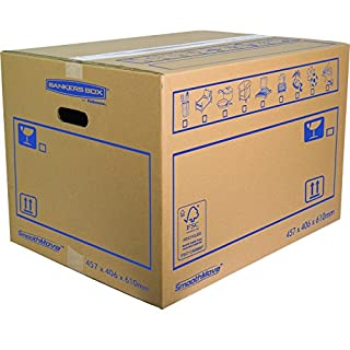 Bankers Box 45.7 x 40.6 x 61 cm Smooth Move Double Walled Moving Box (Pack of 10)