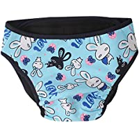 Beito Washable Dogs Pañales Dogs Puppy Dogs Layers Blue Rabbit XXL