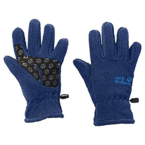 Jack Wolfskin Kinder Fleece Gloves Handschuhe, Royal Blue, 140