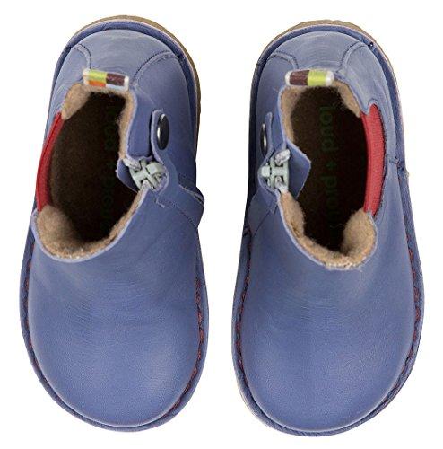 loud + proud Unisex-Kinder Chelsea Boots Blau (Water)