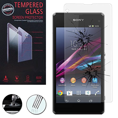 Vcomp Sony Xperia Z1Compact D5503: 1pellicola proteggi schermo vetro temperato–Trasparente