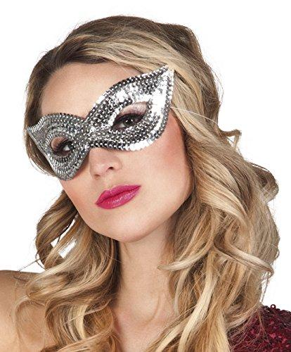 Halloweenia - Kostümzubehör Augenmaske Silver Diva , Mehrfarbig