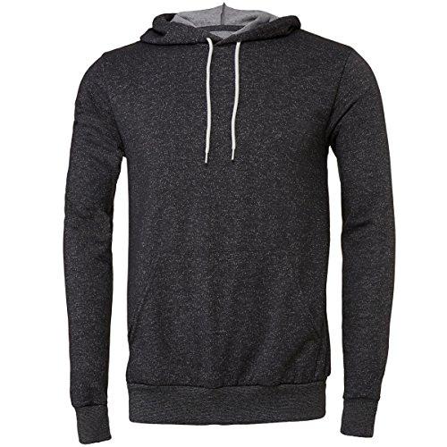 Unisex polycotton fleece pullover hoodie Bella Canvas Streetwear Felpa Cappuccio Uomo Digital Grey