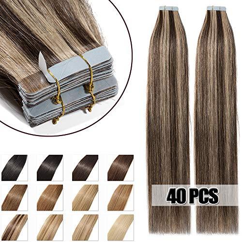 40extensiones adhesivas de cabello natural