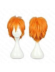 COSPLAZA Perruque Haikyuu!! Haikyu Hinata Syouyou courte orangé garçon Anime Halloween Cosplay Wig