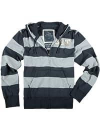 Surplus Stripe Zipper Hoodie - Gilet - Homme