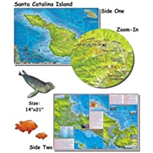Santa Catalina Island Map for Scuba Divers and Snorkelers