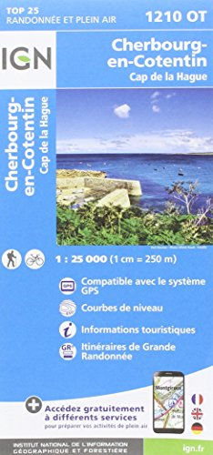 Cherbourg-en-Cotentin.Cap de la Hague 1:25 000 (Normandie-caps)