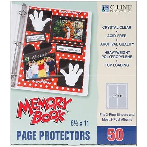 C-Line Bambou mémoire livre chargement Protecteurs Page 21,6x 27,9cm 50par paquet (1) 21,6x 27,9cm poche