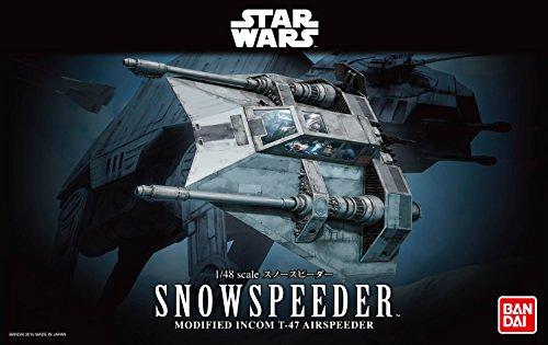 Revell Bandai 01203 Disney Star Wars Snowspeeder originalgetreuer Modellbausatz für Experten, Mehrfarbig, 1/48