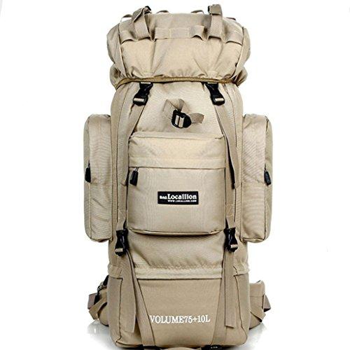 A-SSJ Bolsa de escalada al aire libre 85L gran capacidad de mochila de viaje apoyo camping deportes mochila (Color : Multi – color)