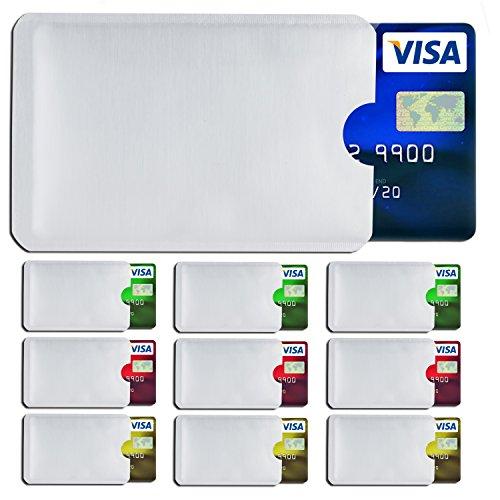 Tasche Zuschneiden (SHIELDIFY ® RFID & NFC Schutzhülle (10 Stück) für Bankkarte, Ausweis, Kredit-/EC Karte Kreditkartenhülle, Kartenschutzhülle mit RFID Blocker und 10 Farbsticker)