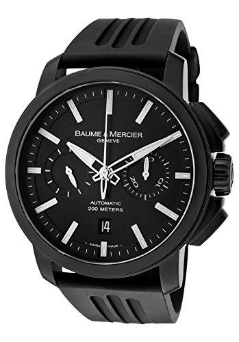 baume-mercier-hommes-de-classima-montre-chronographe-automatique-cadran-noir-en-caoutchouc-noir