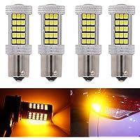 2 bombillas LED KaTur blancas de 800 lúmenes 1157 BAY15D de marcha atrás para coches, de 12 V y 12,6 W