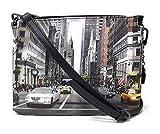 YNOT CROSSBODY BAG 3 POCKETS YES-399F0 BLACK-NEWYORK 27 x 20.5 x 10