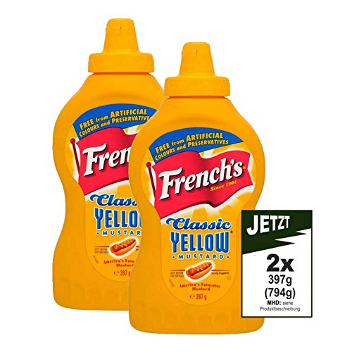 French's Classic Yellow Mustard 2x 397g (794g - )A...