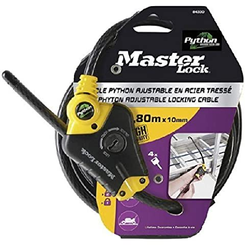 Master Lock Python 1800x10mm adjustable Cable Lock Black by Masterlock