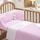Tweet Dreams Cot Bed Quilt and Bumper Set - Pink (Standard)