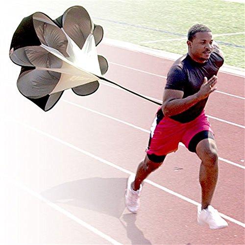 Running Chute, AGPtek Black Professional Speed Training Resistance Parachute Chute Power with Premium Quality Test