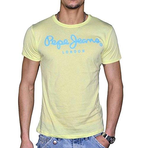 t-shirt-manches-courtes-pepe-jeans-l-jaune-bleu