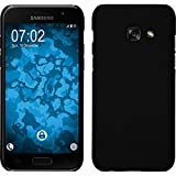 PhoneNatic Case für Samsung Galaxy A3 2017 Hülle schwarz gummiert Hard-case für Galaxy A3 2017 + 2 Schutzfolien