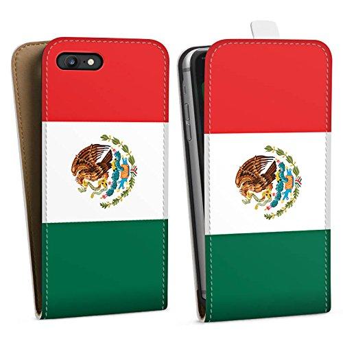 Apple iPhone X Silikon Hülle Case Schutzhülle Mexiko Flagge Fußball Downflip Tasche weiß