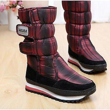 Stivali da donna Comfort Sintetico Spring Casual Rosso Nero Bianco Flat Black