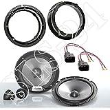 LSP-Set: Clarion SRG1723S 350 Watt Lautsprecher-Paar + Lautsprecherkabel für •VW Golf IV •VW New Beetle •Einbauort: Heck Türen
