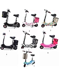 XZX Foldable Lady's Electric Bicycle Scooter Bike 24V with Shopping Basket
