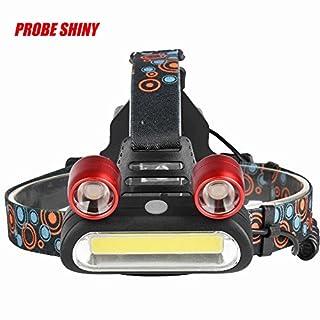 DOGZI Led Taschenlampe Verstellbar, Baumarkt Eisenwaren - 15000LM 2x XM-L T6 LED + COB Wiederaufladbare 18650 Scheinwerfer