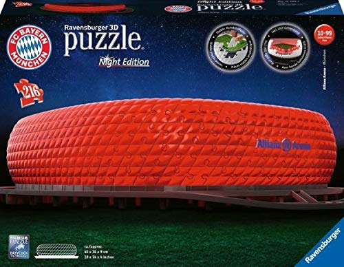 Ravensburger - Puzzle 3D - Building - Stade Allianz Arena illuminé - 12530