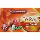 Pompadour Té Rojo con Fresas - Pack de 5 (Total: 100 bolsitas)