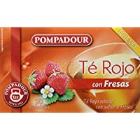 Pompadour Té Rojo con Fresas - Pack de 5 x 20 Bolsitas