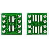 10Pcs SOP8 SO8 SOIC8 TSSOP8 MSOP8 to DIP8 Adapter PCB Conveter Board