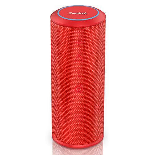 Wireless Bluetooth Lautsprecher Subbass Leistungsstarker 24 Watt Wireless 360° Sound Bluetooth Speakers V4.2 mit Wasserfest Stoßfest Mikrofon und Reinem Bass Zamkol (Rot) (Auto Wireless Bluetooth Lautsprecher)