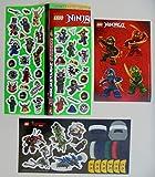 Lego Ninjago 3 Bogen Aufkleber Sticker Set Ninja Movie Kindergeburtstag Dekoration Zum sammeln und Spielen