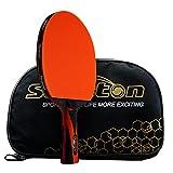 Senston ITTF Zugelassen Tischtennisschläger, Professionelle Pingpong Schläger Paddel mit Fall