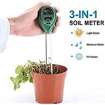 LYPULIGHT 3-en-1 suelo probador del suelo medidor de humedad luz PH prueba kits jardinería planta atención plantas paisajismo césped cuidado interior y exterior