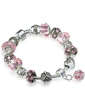 A TE® Armband Charms Kristall Bead Herz Damen Geschenk #JW-B