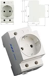 Pollmann Verteiler Einbausteckdose Tragschienen-Steckdose 250VAC 16A Hutschiene