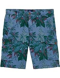 Gant Men's Men's Blue Cargo Shorts With Floral Print Cotton