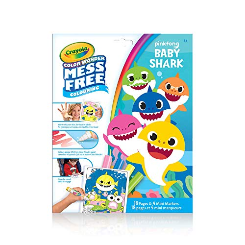 Crayola Mess-Free Color Wonder Pages & Mini Markers Baby Shark (Color Wonder Mini)