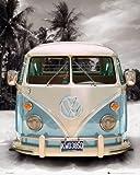 Kaschierter Druck, Fertigbild - Volkswagen Bulli - Größe 40 x 50 cm