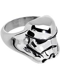 Acero inoxidable Oficial producto oficial de Star Wars 3D anillo de dos minifiguras