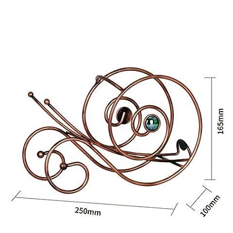XYYN Kreativ Schnecken Weinregale Haushaltsprodukte Geschenk Metall Rotweinregal 25 *