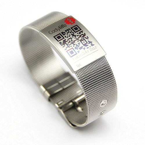 pulsera-identificativa-codylife-milanese-mesh-pulsera-mujer-de-acero-inoxidable-316l-con-placa-ident