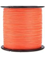 Angelschnur - TOOGOO(R)500M 30LB 0.26mm Peche Ligne forte Tresse PE orange, 4 brins