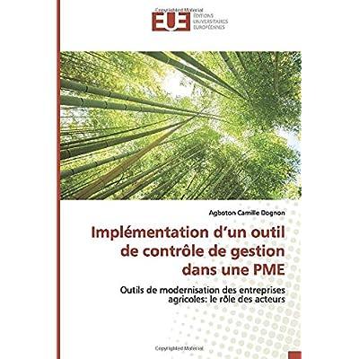 Implémentation d'un outil de contrôle de gestion dans une PME: Outils de modernisation des entreprises agricoles: le rôle des acteurs